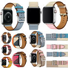 Genuine Leather For Apple Watch iWatch 4/3/2/1 Single / Double Tour Herme Strap