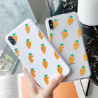 Cute Fruit Carrot Pattern Clear Thin Phone Case Cover for iPhone Xs Max 6 7 8 XR