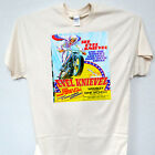 """EVEL KNIEVEL""""70's Poster Art"""" LONDON UK,Classic Show T-SHIRT,ALL SIZES, T-47Blue"""