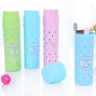 Plastic Portable Travel Toothbrush Case Toothpaste Holder Storage Cup Box GIFT