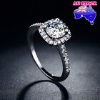 Wholesale 925 Sterling Silver Filled Paved Clear 2ct Cz Crystal Band Ring Gift