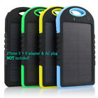 Transportable Dual-USB Solar Power Bank Case Battery Charger DIY  Waterproof 5000mAh
