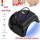 Professional 64W Nail Dryer UV LED Drying Gel Rechargeable Portable Nail Lamp LJ