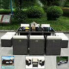 Garden Outdoor Sofa Set Furniture 4pc / 9pcs Pe Wicker Rattan Lounge Setting Au