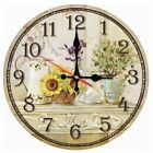 Creative Wooden Wall Clocks Single Europe Sofa Background Face Flower Stickers