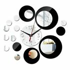 Fashion Double Color Acrylic Wall Clock DIY Vintage Mirror Home Decor Stickers