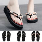 Summer Women Flat Crystal Round Toe Slippers Shoes Beach Flip-flops Shoes GIFT