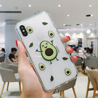 Funny Fruit Lemon Avocado Meme Clear Phone Case Back Cover for iPhone 6-Xs Max