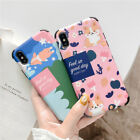 Funny Lazy Corgi Design Soft Phone Case Cover Bumper for Apple iPhone 6-Xs Max
