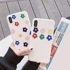 Fashion Lady Soft Phone Case Colorful Flower Back Cover for iPhone XR 6-Xs Max