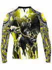 Raven Fightwear Men's The Gods of Scandinavia Thor Rash Guard MMA BJJ Black