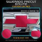 PRE-CUT Emblem Overlay Bowtie Decal Fit 2019+ Chevy Silverado - Brushed Aluminum