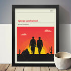 Django Unchained A3 A4 Movie Poster Film Print