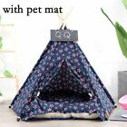 Pet Tent Toy House Dog Cat Portable Washable Stripe Pattern Fashion Contain Mat