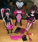 MONSTER HIGH Draculara Dolls Bath Vanity Chair Accessories