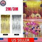 2/3M Metallic Fringe Curtain Party Foil Tinsel Home Room Decor Door Decoration