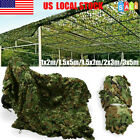 3x5m Woodland leaves Camouflage Camo Army Net Netting Camping Military Hunting