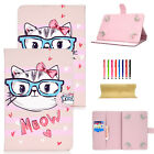 """For iPad Mini/Air/Pro 9.7""""/Pro 11"""" Smart Painted Wallet Magnetic Stand Flip case"""