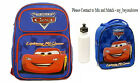 Disney Pixar Cars McQueen Large School Blue Rolling Backpack Lunch Bag Bottle