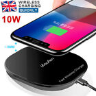 10W Qi Wireless Charger Mat Fast Charging Pad For iPhone X 8 Samsung Galaxy S9