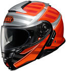 Shoei Adult Orange/Black/Silver Neotec II Splicer TC-2 Motorcycle Helmet