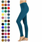Womens Long Leggings Basic Full Ankle Length Stretch Cotton Span High Rise Waist
