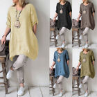 Loose Solid Dress Women Summer Casual Plus Size Ladies Party Dresses GIFT
