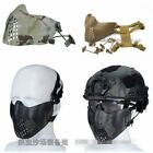 Outdoor Tactical Half Face Mask Fit Fast Helmet Military Protect Cycling Camo
