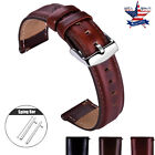 18 20 22mm Quick Release Genuine Leather Watch Band Wrist Strap For ORIENT Watch image