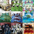 3D Bedding Set Animal Printed Quilt Duvet Cover Pillow Case Twin Queen Size AE9 image