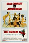 "You Only Live Twice (1967) Movie Silk Fabric Poster 11""x17"" 24""x36""  007 $11.34 CAD on eBay"