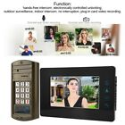 7in HD Color LCD Doorbell Wired Video IR Night Vision Intercom Security Doorbell