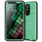 for LG Stylo 4 Case USA Version with Built-in Screen Protector Rugged Dual Layer