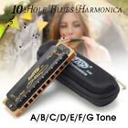 Easttop T008K 10 Hole Blues Harmonica A B C D E F G Key Professional Protable