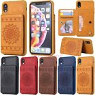 Shockproof Leather Wallet Card Slot Flip Case Cover For Iphone Xs Xr 6s 7 8 Plus