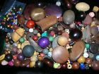 BEADS LARGE SELECTION OF WOODEN BEADS. LARGE, TO VERY SMALL