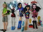 Lot Of 5 Mattel Moster High Dolls. Used - comes with all pictured items
