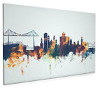Middlesbrough Skyline Box Canvas and Poster Blue background (2644)