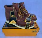 "New Cactus Steel Toe Work Boots 6061S Brown Leather 6"" Oil"