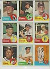 1963 Topps EX+/EX-NM+ Nice Sharp Cards ! Pick From List Complete Your Set !