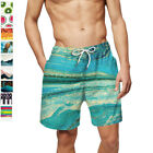 Men's Swim Trunks Quick Dry Beach Swimming Shorts with Mesh Liner Bathing Suits