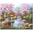 Animal River Flower DIY Oil Painting by Numbers Craft Canvas Set Home Dec EDY