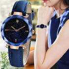 Fashion Women Luxuy Starry Dial Casual Leather Strap Quartz Analog Wrist Watches image