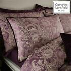 Catherine Lansfield Regal Jacquard Duvet Cover Floral Purple / Plum Bedding Set