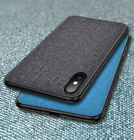 For iPhone Xs Max Xr 6 7 8 Plus Fabric Canvas Business Vintage Cloth Case Cover