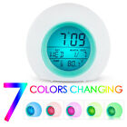 Creative Round Alarm Clock Home Decor Bedroom Kids LED Desktop Digital Clock NEW