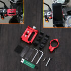 NEW Red CAFE RACER Motorcycle BMX /MTB Adjustable Phone Holder GPS iPhone X LG