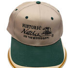Hat Cap Hisoric Natchez on the Mississippi Beige Forest Green One Size Fits Most