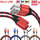 2-Pack Micro USB Charger Fast Charging Cable Cord For Samsung Android LG Phones comprar usado  Enviando para Brazil