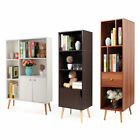 3 Style Wood Bookcase Storage Shelving Book Wide Bookshelf Home Office Furniture